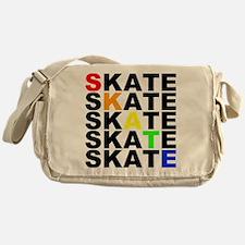 rainbow skate stacks Messenger Bag