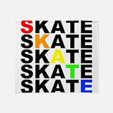 rainbow skate stacks Throw Blanket