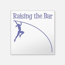 "POLE VAULT Square Sticker 3"" x 3"""