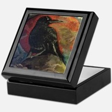Cute Raven collects Keepsake Box