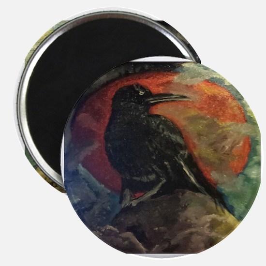 Unique Black crow on Magnet