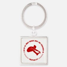 LONG JUMP, PHIL.413 Square Keychain