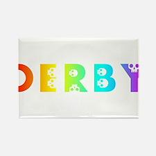 derby rainbow skulls Magnets