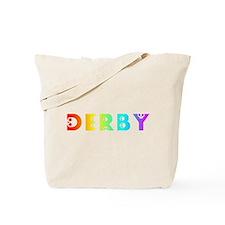 derby rainbow skulls Tote Bag