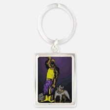 Cute Black greek Portrait Keychain