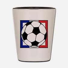 futbol francaise Shot Glass