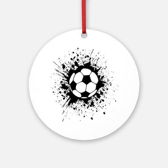 soccer splats Round Ornament