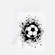 soccer splats Greeting Cards