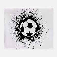 soccer splats Throw Blanket