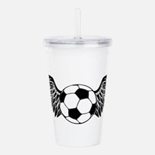 flying soccer ball Acrylic Double-wall Tumbler