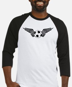 flying soccer ball Baseball Jersey