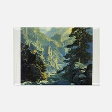 Cute Maxfield parrish Rectangle Magnet