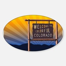 welcome to colorful colorado sign Decal