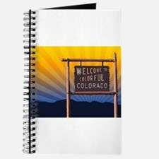 welcome to colorful colorado sign Journal