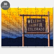 welcome to colorful colorado sign Puzzle