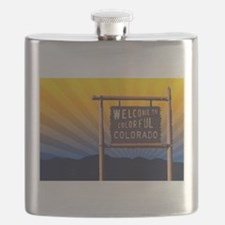 welcome to colorful colorado sign Flask