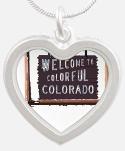 welcome to colorful colorado signage Necklaces