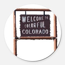 welcome to colorful colorado signage Round Car Mag
