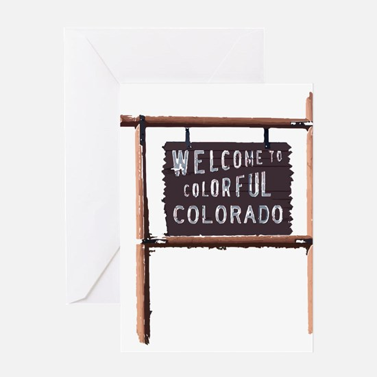 welcome to colorful colorado signage Greeting Card