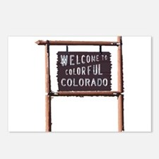 welcome to colorful colorado signage Postcards (Pa