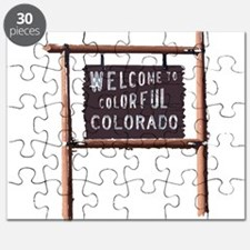 welcome to colorful colorado signage Puzzle