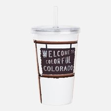 welcome to colorful colorado signage Acrylic Doubl