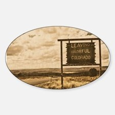 leaving colorful colorado signage woodprint Sticke