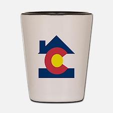 colorado house Shot Glass