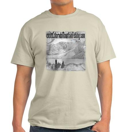 Colorado Mountain Fishing Log Light T-Shirt