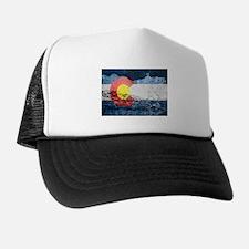 colorado concrete wall flag Trucker Hat