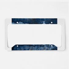 colorado concrete wall flag License Plate Holder