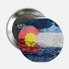 "colorado concrete wall flag 2.25"" Button (100 pack"