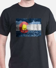 colorado concrete wall flag T-Shirt