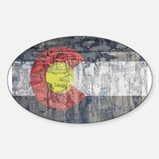 colorado flag paint chips Decal