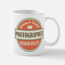 photographer vintage logo Mug