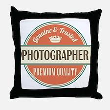 photographer vintage logo Throw Pillow