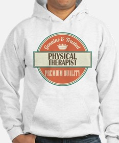 physical therapist vintage logo Hoodie
