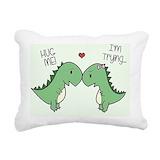 Dinosaur Rectangle Canvas Pillows