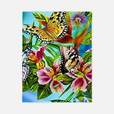 Beautiful Butterflies And Flowers Twin Duvet