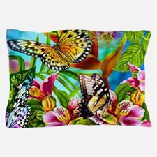 Beautiful Butterflies And Flowers Pillow Case