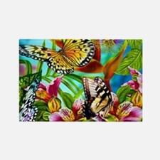 Beautiful Butterflies And Flowers Magnets
