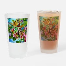 Beautiful Butterflies And Flowers Drinking Glass