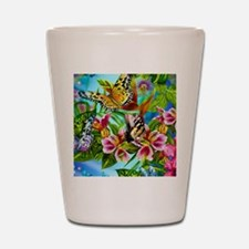 Beautiful Butterflies And Flowers Shot Glass