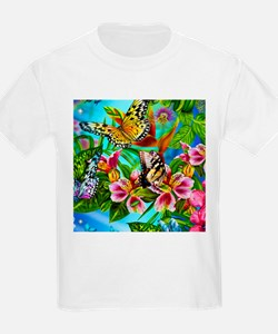 Beautiful Butterflies And Flowers T-Shirt