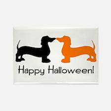 Dachshund Halloween Rectangle Magnet (100 pack)