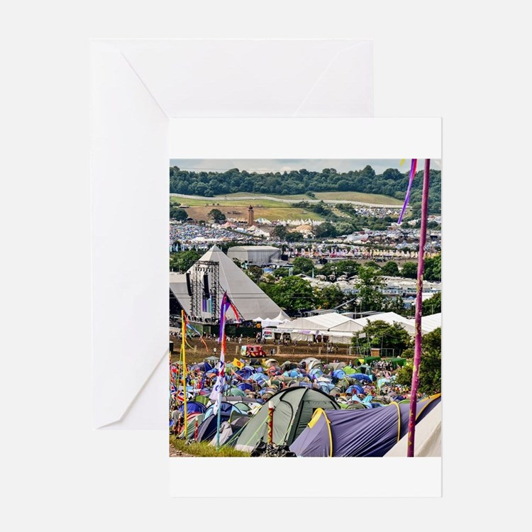 GLASTONBURY FESTIVAL Greeting Cards