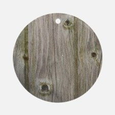 Cute Wooden pattern Round Ornament