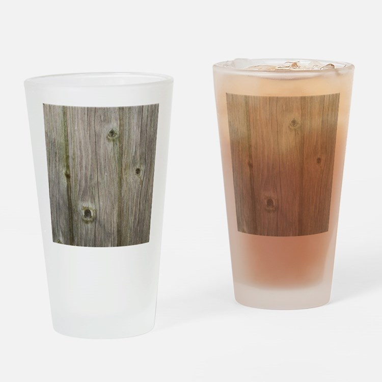 old grey wood Drinking Glass
