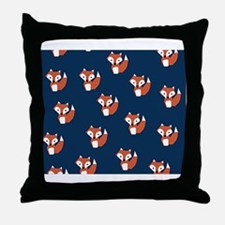 Cool Orange and blue Throw Pillow