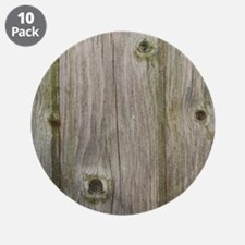 """old grey wood 3.5"""" Button (10 pack)"""